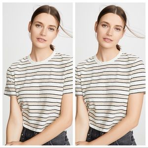 James Perse Cropped Striped Tee